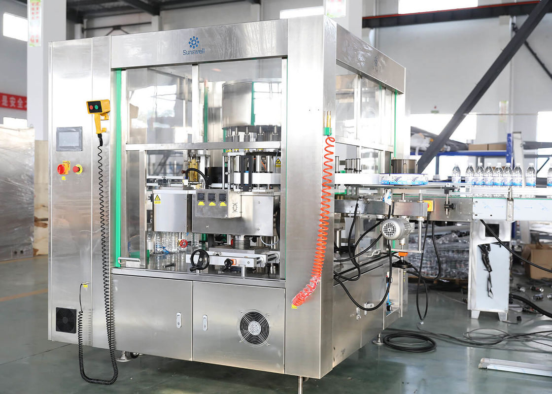Long Life Round Bottle Labeling Machine , Glass PET Bottle Labeller Packing Machine