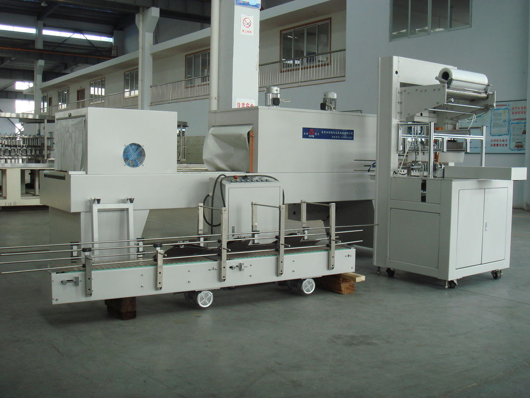 Industrial Automatic PE Film Shrink Wrapper Packaging Equipment for vinegar and soy sauce